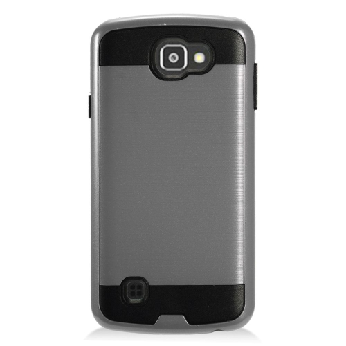 Insten Hard Hybrid TPU Case For LG Optimus Zone 3/Spree, Gray/Black
