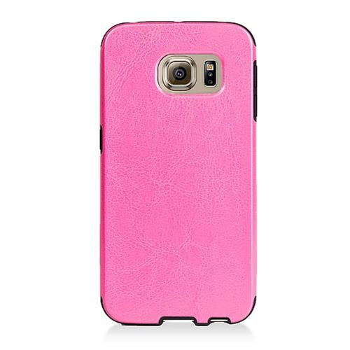 Insten Leather Fabric TPU Cover Case For Samsung Galaxy S6 Edge, Pink