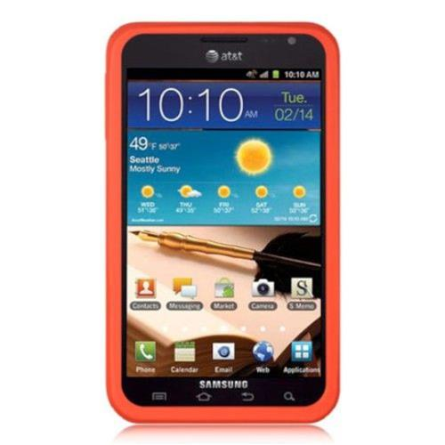Insten Silicone Rubber Case For Samsung Galaxy Note, Red