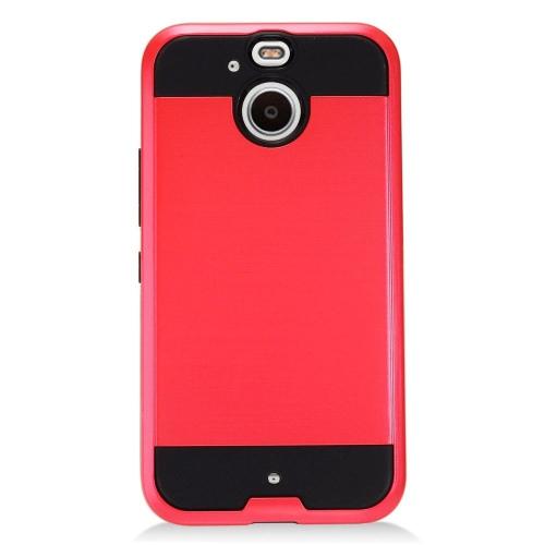 Insten Hard Hybrid TPU Case For HTC 10 EVO / Bolt, Red/Black