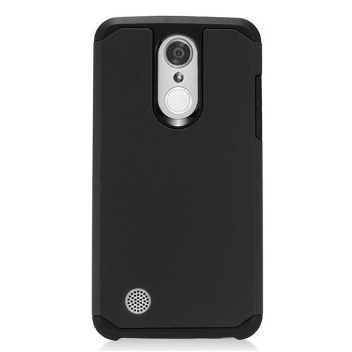 Insten Hard Hybrid TPU Cover Case For LG Aristo, Black