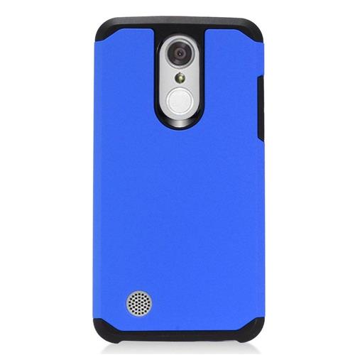 Insten Hard Hybrid TPU Cover Case For LG Aristo, Blue/Black