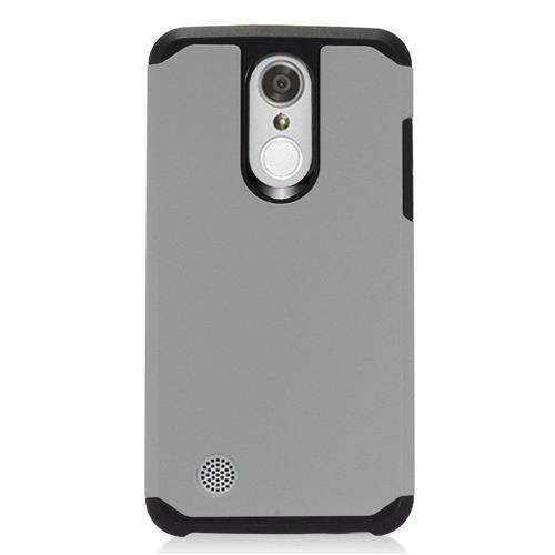 Insten Hard Dual Layer TPU Cover Case For LG Aristo, Gray/Black