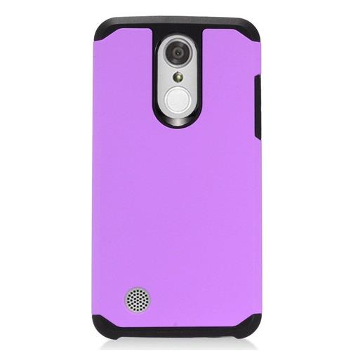 Insten Hard Hybrid TPU Cover Case For LG Aristo, Purple/Black
