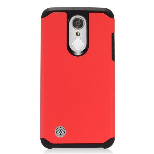 Insten Hard Hybrid TPU Case For LG Aristo, Red/Black