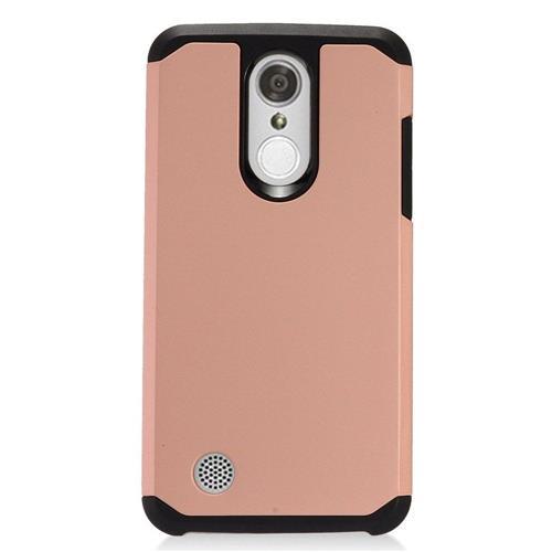 Insten Hard Dual Layer TPU Case For LG Aristo, Rose Gold/Black