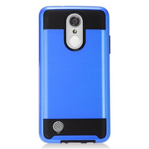 Insten Hard Hybrid TPU Cover Case For LG Aristo, Blue/Black