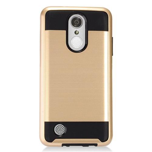 Insten Hard Hybrid TPU Cover Case For LG Aristo, Gold/Black