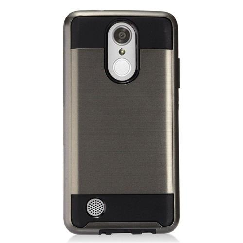 Insten Hard Dual Layer TPU Case For LG Aristo, Gray/Black