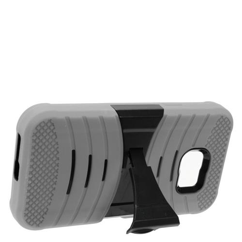 Insten Wave Symbiosis Rubber Hard Cover Case w/stand For Samsung Galaxy S7 Active, Gray/Black