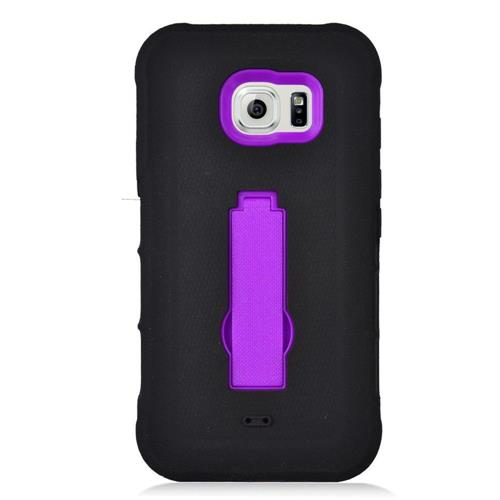 Insten Symbiosis Rubber Hard Case w/stand For Samsung Galaxy S7 Active, Black/Purple