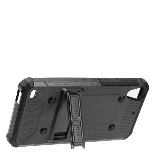Insten Hard Dual Layer TPU Case w/stand For HTC Desire 530, Black