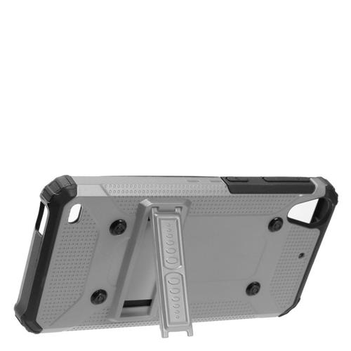 Insten Hard Dual Layer TPU Case w/stand For HTC Desire 530, Gray/Black