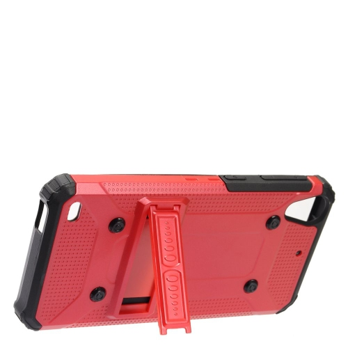 Insten Hard Hybrid TPU Cover Case w/stand For HTC Desire 530, Red/Black