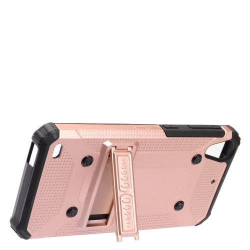 Insten Hard Dual Layer TPU Case w/stand For HTC Desire 530, Rose Gold/Black