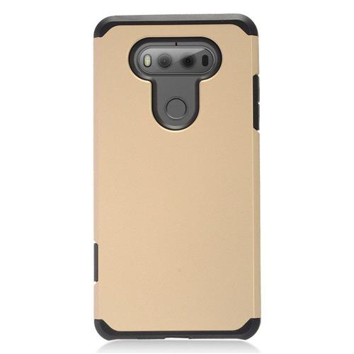 Insten Hard Dual Layer TPU Cover Case For LG V20, Gold/Black