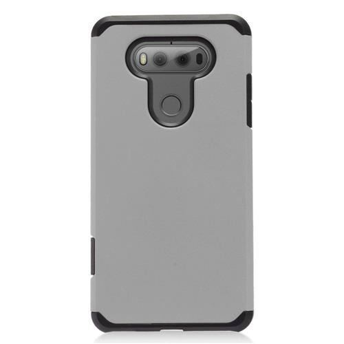 Insten Hard Dual Layer TPU Case For LG V20, Gray/Black