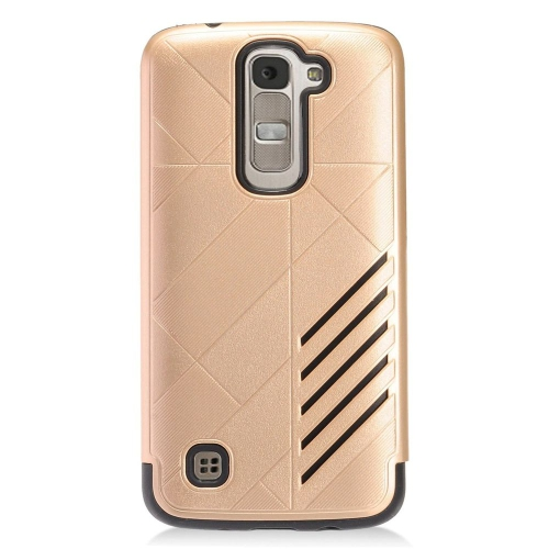 Insten Hard Dual Layer TPU Cover Case For LG K7 Tribute 5, Gold/Black