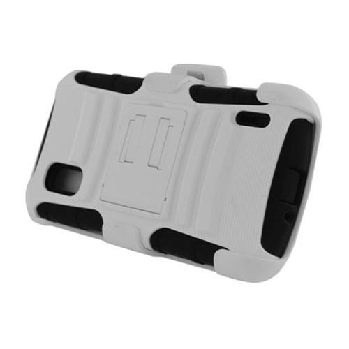 Insten Advanced Armor Hard Dual Layer Plastic Case w/stand For LG Google Nexus 4 E960, Black/White
