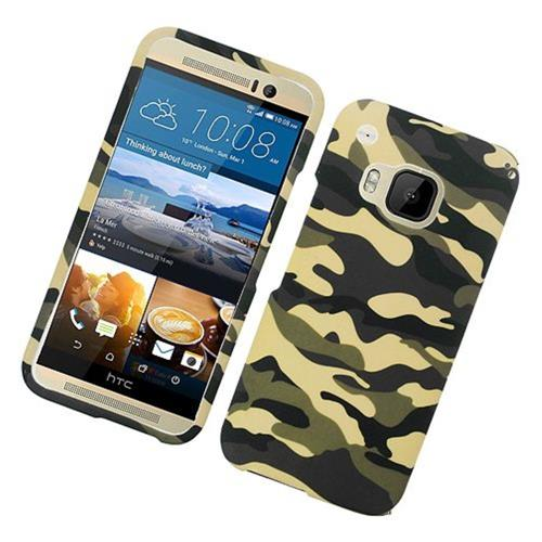 Insten Camouflage Hard Rubber Case For HTC One M9, Green