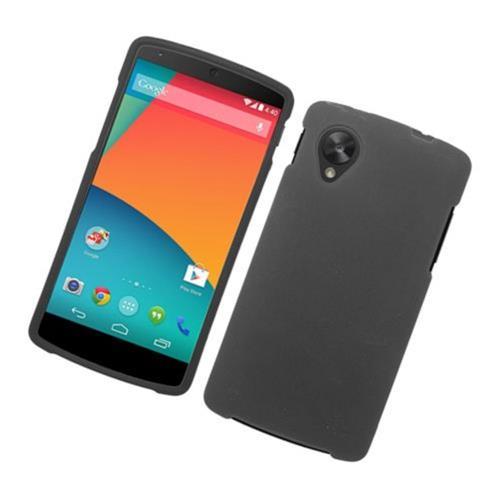 Insten Hard Rubberized Case For LG Google Nexus 5 D820, Black