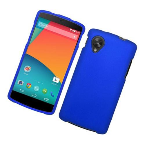 Insten Hard Rubber Case For LG Google Nexus 5 D820, Blue