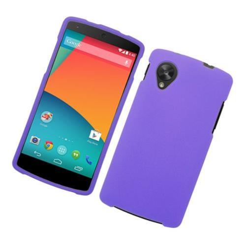 Insten Hard Rubber Case For LG Google Nexus 5 D820, Purple