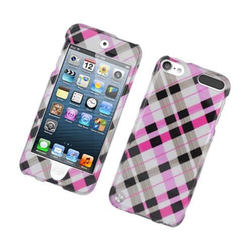 Insten Checker Hard Cover Case For Apple iPod Touch 5th Gen, Pink/Black