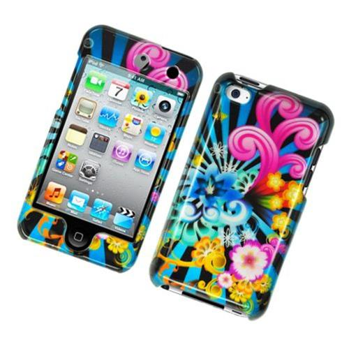 Insten Fireworks Hard Cover Case For Apple iPod Touch 4th Gen, Blue/Colorful