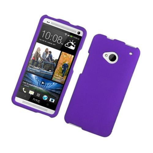 Insten Hard Rubber Case For HTC One M7, Purple