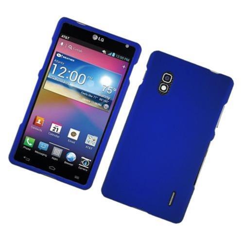 Insten Hard Rubberized Case For LG Optimus G E970, Blue