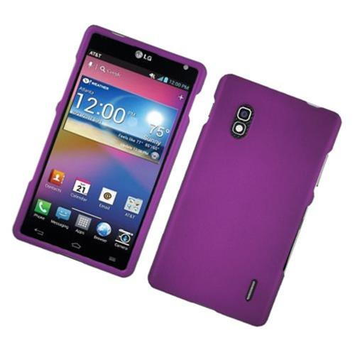 Insten Hard Rubber Case For LG Optimus G E970, Purple