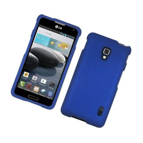 Insten Hard Rubberized Case For LG Optimus F6 MS500, Blue