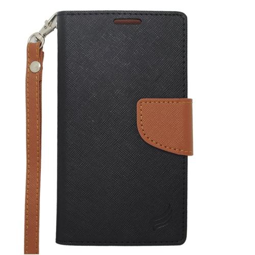 Insten Wallet Case for Blackberry Z10;Motorola Razr; E;Samsung Galaxy J1 - Black