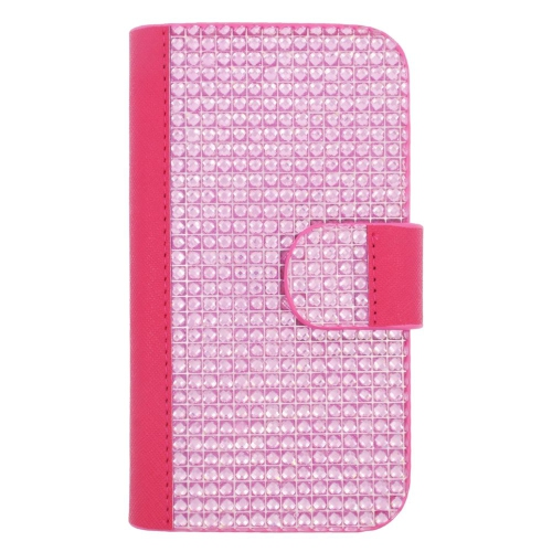 Insten Wallet Case for Blackberry Z10;Motorola Razr; E;Samsung Galaxy J1 - Pink