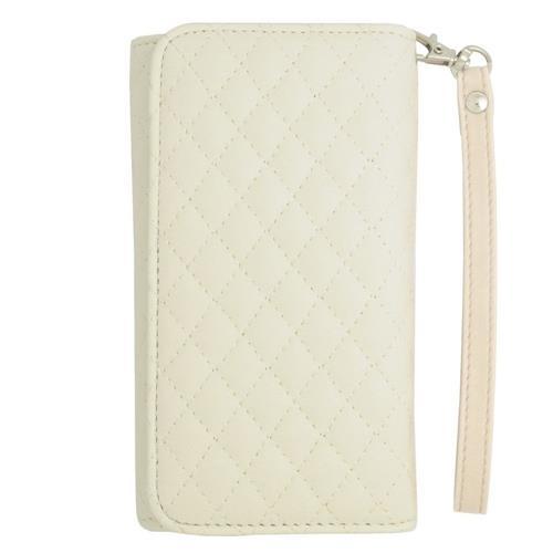 Insten Wallet Case for Blackberry Z10;Motorola Razr; E;Samsung Galaxy J1 - White