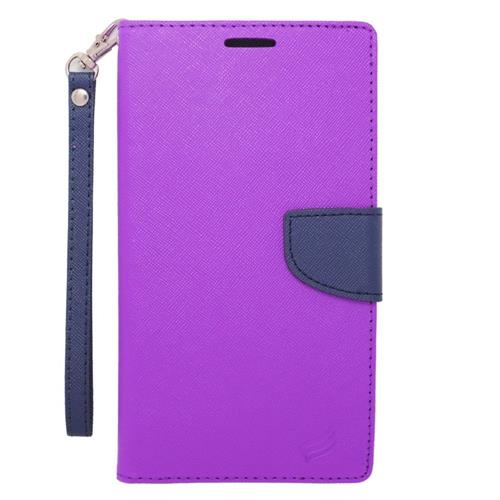 Insten Wallet Case for LG V10;V20;Samsung Galaxy S6 Edge Plus;Galaxy Note 4;Note 5;Zte Zmax - Purple
