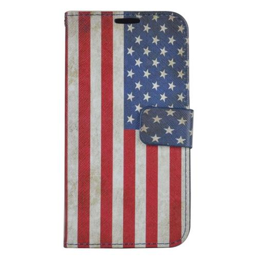 Insten United States Flag Flip Leather Case w/stand/card holder For Samsung Galaxy S7, Colorful