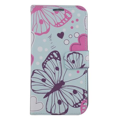 Insten Butterfly Leather Case w/stand/card slot/Photo Display For Samsung Galaxy S7, Colorful