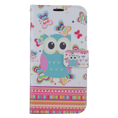 Insten Owl Flip Leather Case w/stand/card holder/Photo Display For Samsung Galaxy S7, Colorful