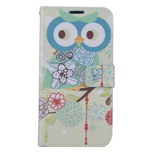 Insten Owl Leather Fabric Case w/stand/card slot/Photo Display For Samsung Galaxy S7, Colorful