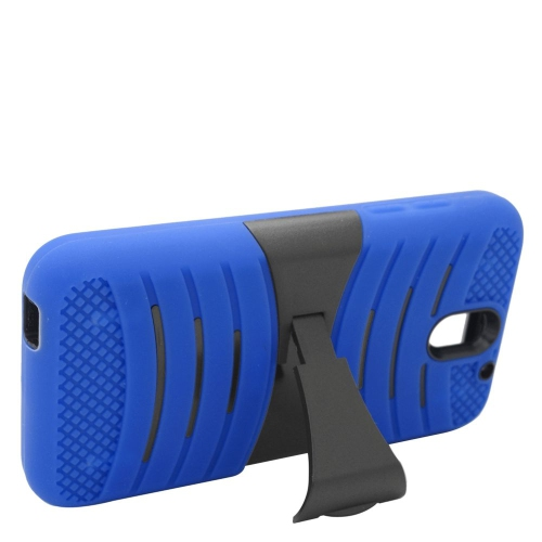 Insten Wave Hybrid Stand Rubber Silicone/PC Case For HTC Desire 610, Blue/Black