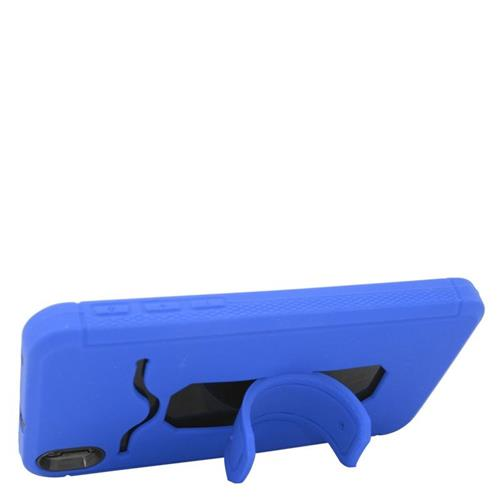 Insten Hybrid Stand Rubber Silicone/PC ID/Card Slot Case For HTC Desire 816, Blue/Black