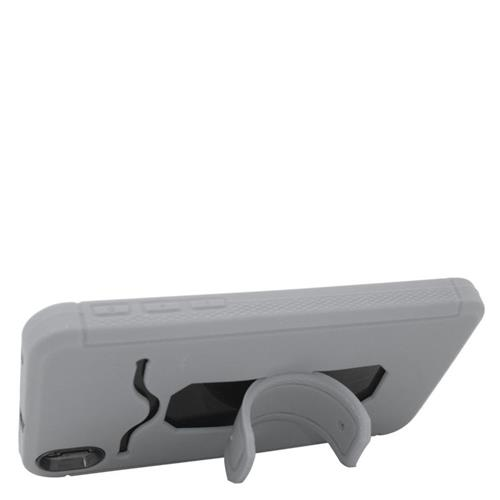 Insten Hybrid Stand Rubber Silicone/PC ID/Card Slot Case For HTC Desire 816, Grey/Black