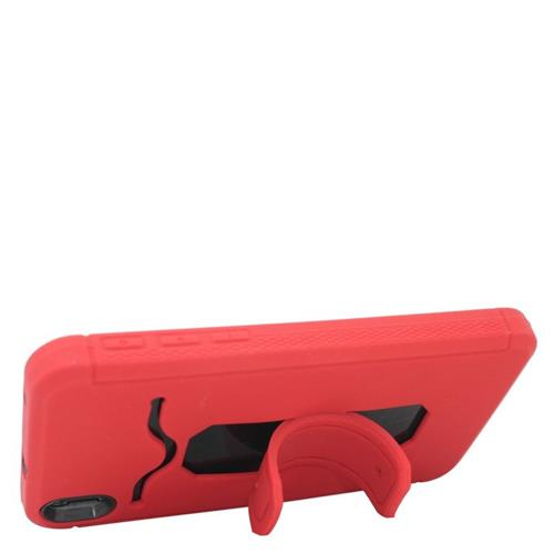 Insten Hybrid Stand Rubber Silicone/PC ID/Card Slot Case For HTC Desire 816, Red/Black