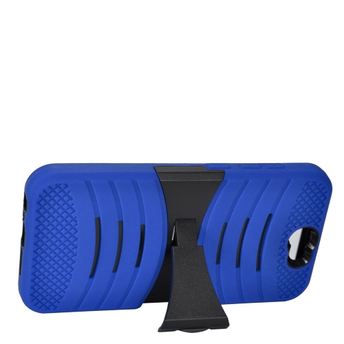 Insten Wave Hybrid Stand Rubber Silicone/PC Case For HTC One A9, Blue/Black