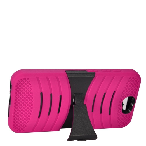 Insten Wave Hybrid Stand Rubber Silicone/PC Case For HTC One A9, Hot Pink/Black