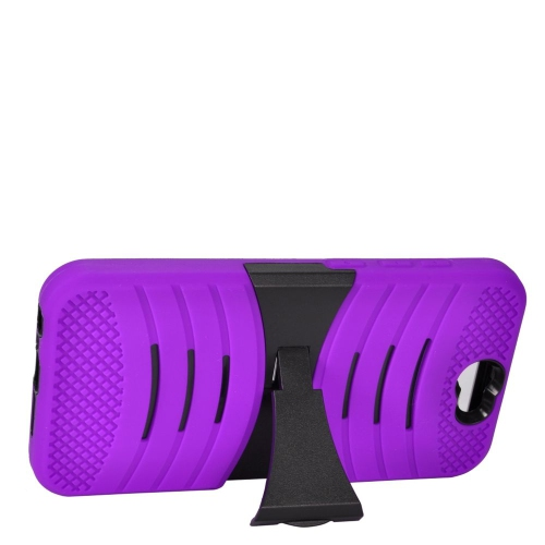 Insten Wave Hybrid Stand Rubber Silicone/PC Case For HTC One A9, Purple/Black