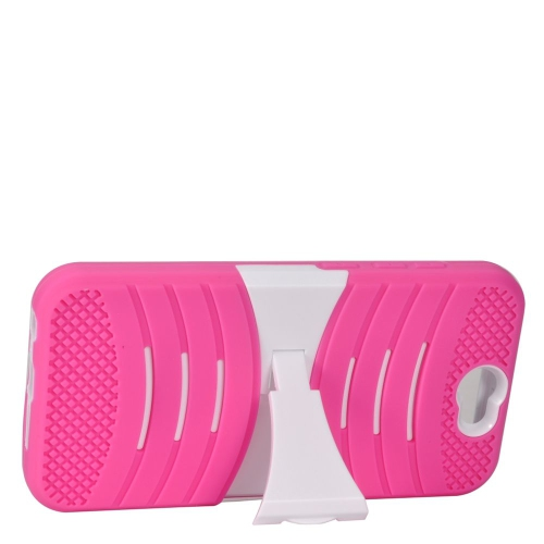Insten Wave Hybrid Stand Rubber Silicone/PC Case For HTC One A9, Pink/White
