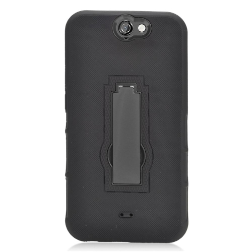 Insten Hybrid Stand Rubber Silicone/PC Case For HTC One A9, Black